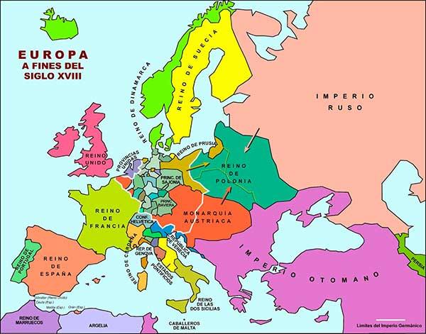 Europa fines siglo xviii