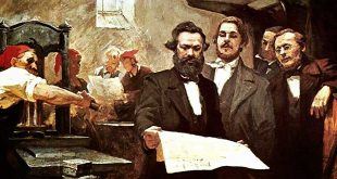 Karl Marx y Friedrich Engels imprenta Rheinische-Zeitung