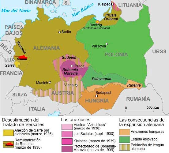 Mapa Europa segunda guerra mundial