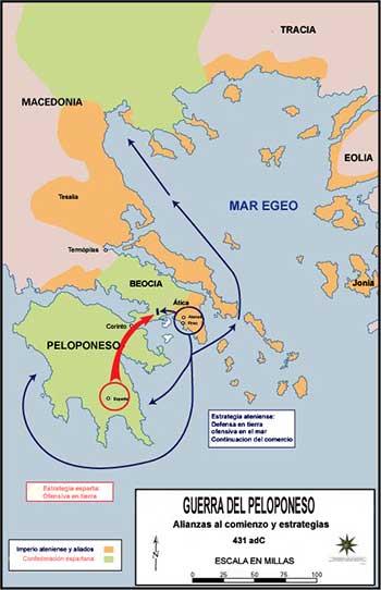 Mapa Guerra Arquidamica