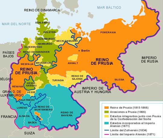Mapa del Reino de Prusia