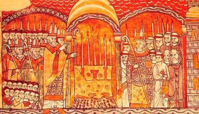 Papa Urbano II consacrando monasterio Cluny