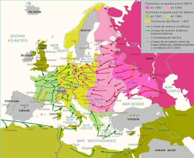 Mapa Europeo segunda guerra mundial