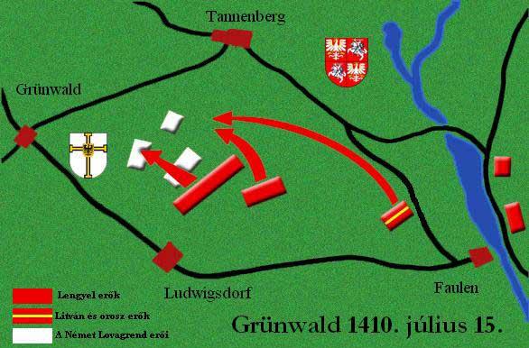 batalla grunwald mapa