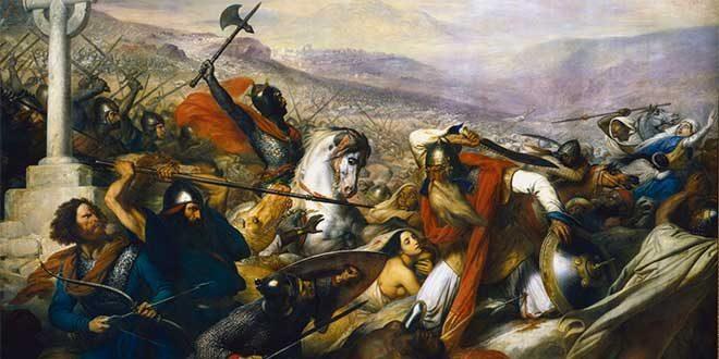 batalla poitiers tours