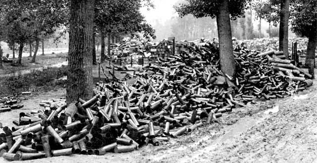 batalla somme municiones
