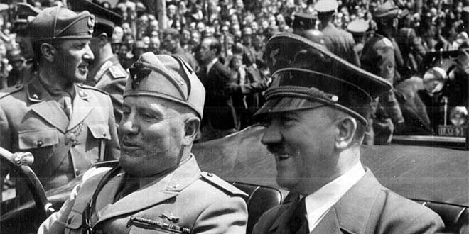 Benito Mussolini y Hitler