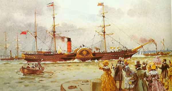 buque vapor ruedas
