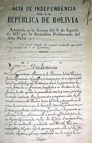 Acta de Independencia de Bolivia
