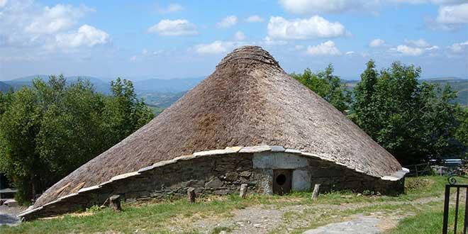 Típica casa celta