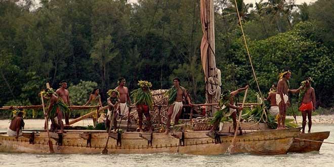Catamaranes de la polinesia