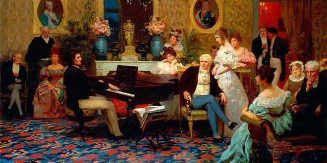 Chopin tocando el piano