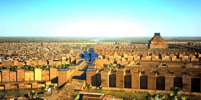 Ciudad de la antigua Mesopotamia