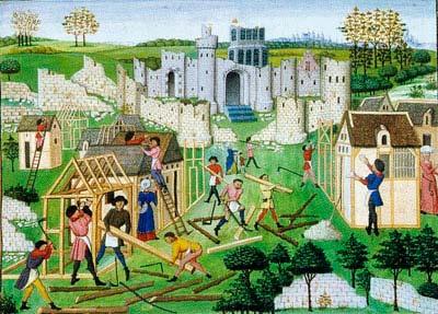 construccion ciudad medieval