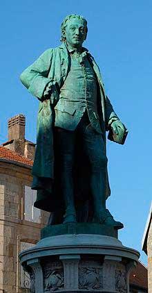 Escultura de Denis Diderot