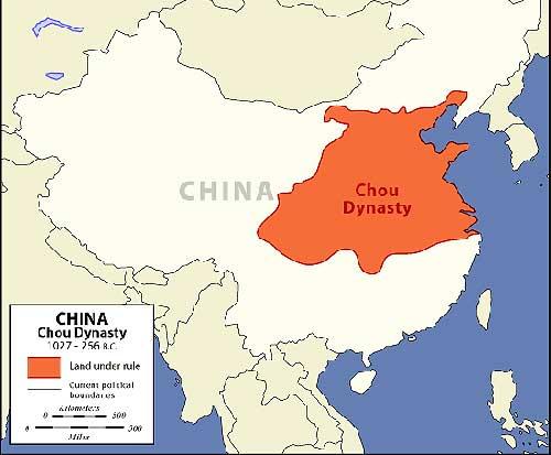 Mapa de la dinastia Chou