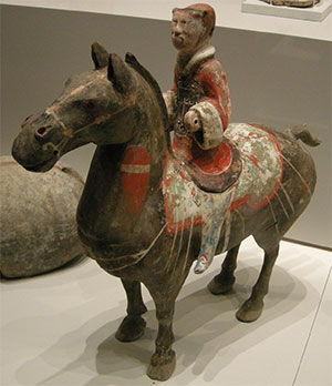 dinastia han escultura caballo