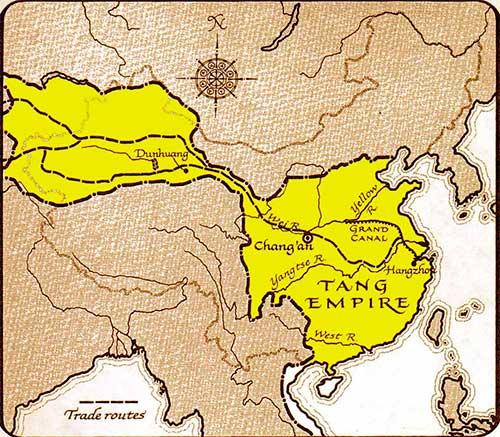 Mapa de la dinastia Tang