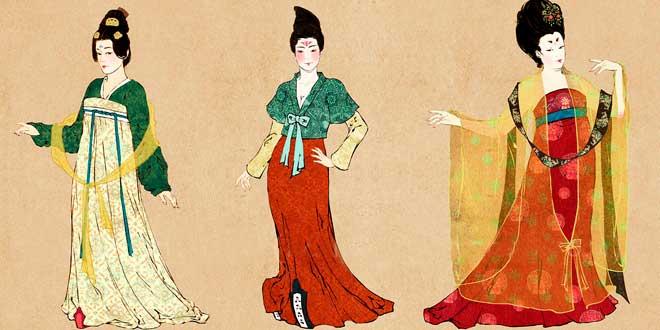 Vestimentas de mujeres de la dinastia Tang