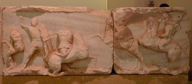 escultura batalla pidna