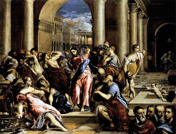 Expulsión de los mercaderes por El Greco