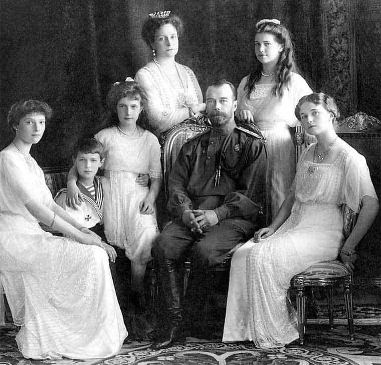 La familia real Romanov de Rusia