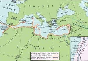 Rutas Comerciales Cultura Fenicia