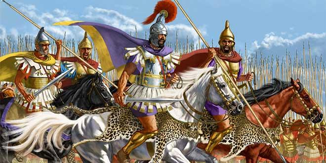 filipo II con caballeria