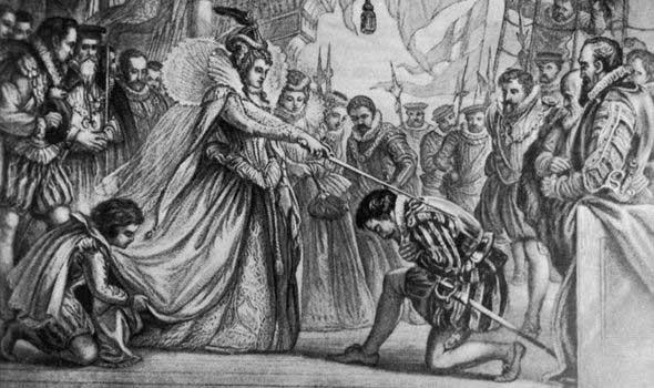 Francis Drake reconocido como Sir por la reina Isabel