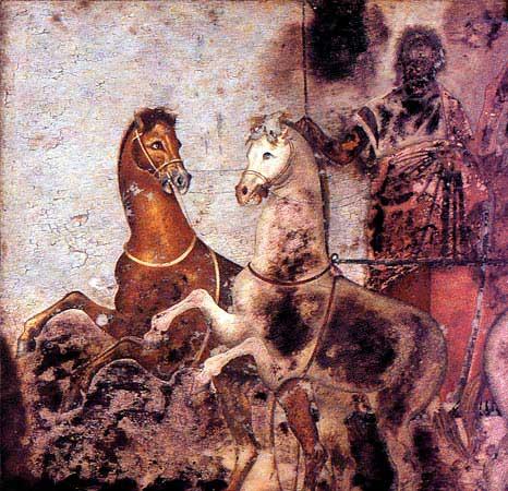 fresco de la tumba de filipo vergina