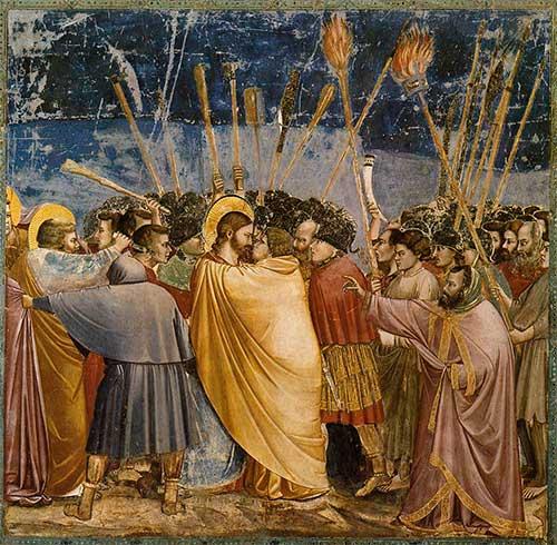 Beso de Judas por Giotto