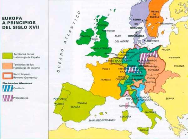 guerra 30 anos mapa inicios