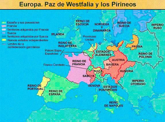 guerra 30 anos paz de westfalia y los pirineos
