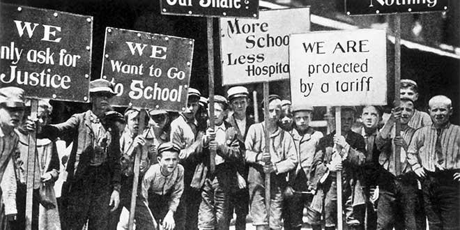 Huelga de niños trabajadores