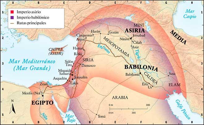 imperio asirio babilonico mapa