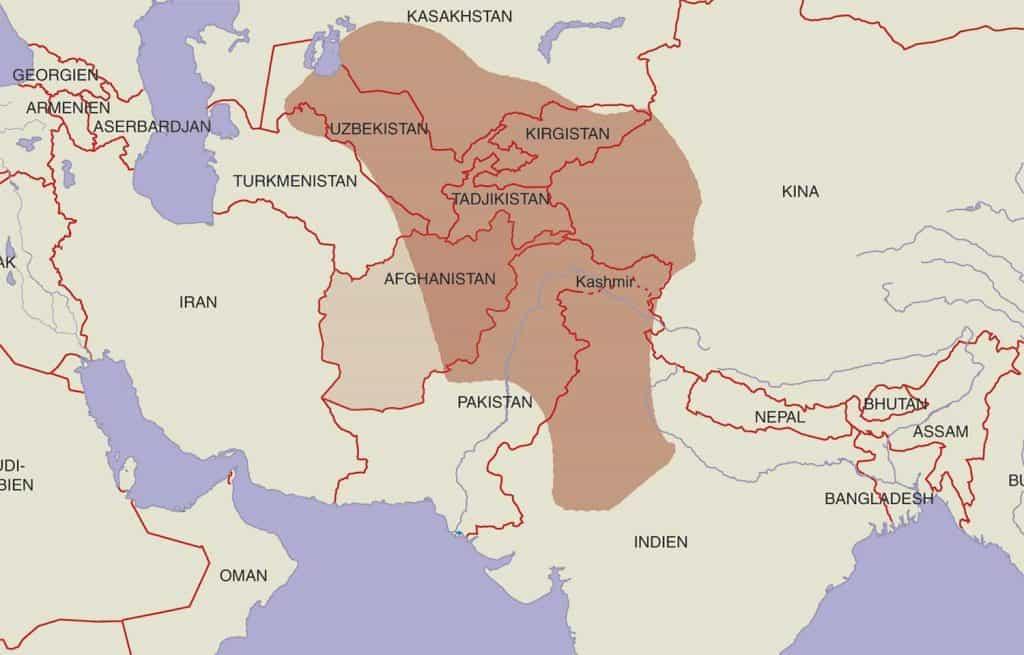 Mapa del Imperio Kushan