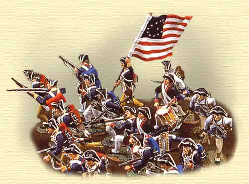 independencia de estados unidos soldados
