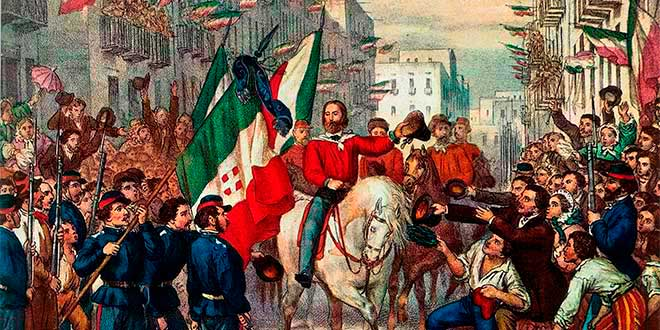 Ingreso de Garibaldi a Nápoles