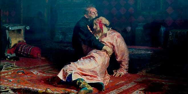 Iván El Terrible mata a su hijo