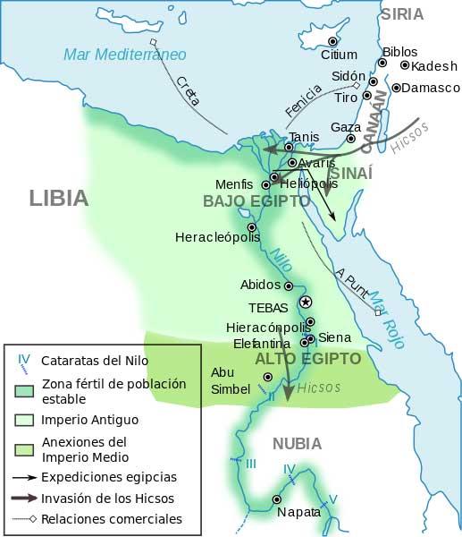 mapa Imperio Antiguo y medio