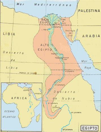Mapa Del Antiguo Egipto.Cultura Egipcia O Antiguo Egipto Historia Universal