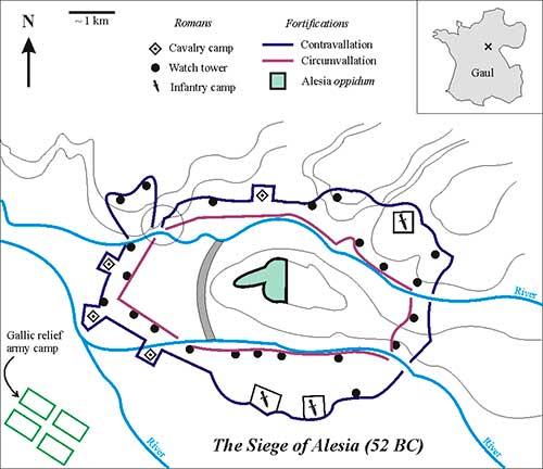 mapa batalla alesia