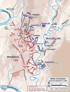 mapa batalla antietam