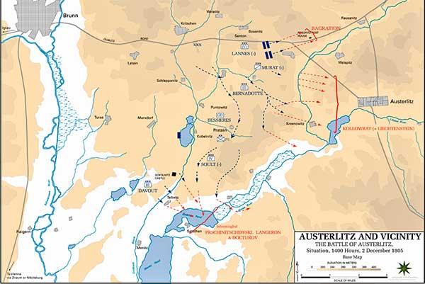 mapa batalla austerlitz