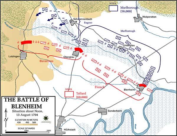 mapa batalla blenheim