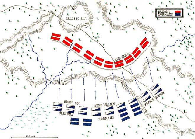 mapa batalla de hastings