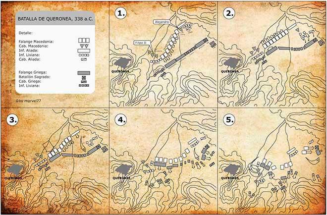 mapa batalla queronea