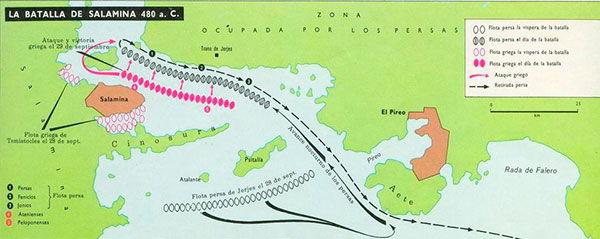 mapa batalla salamina