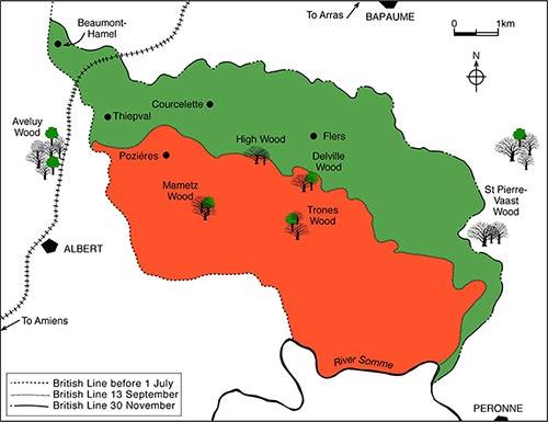 mapa batalla somme