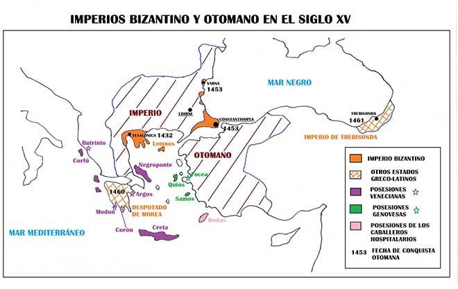 mapa de la caida de constantinopla